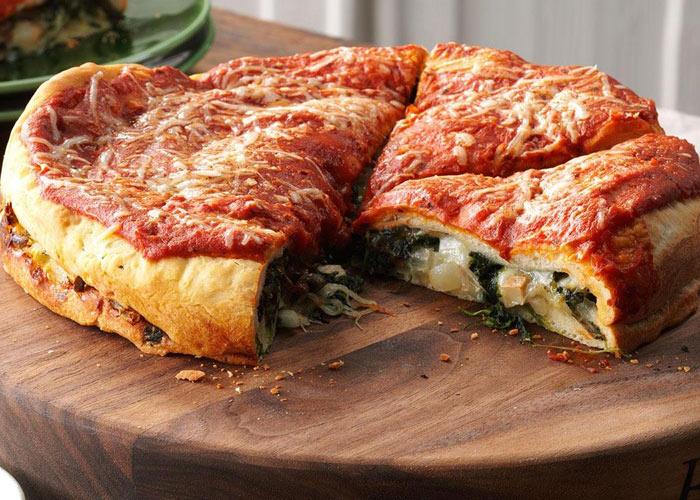 پیتزا سبزیجات شکم پر!
