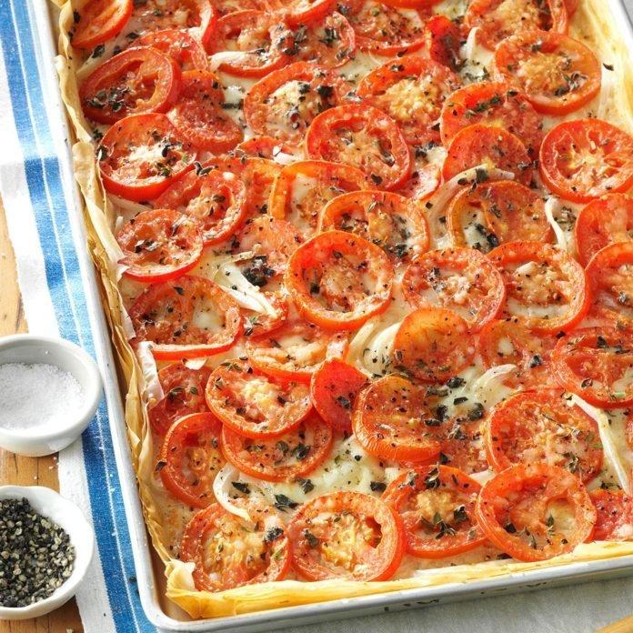 این پیتزا مختص طرفداران گوجه است.